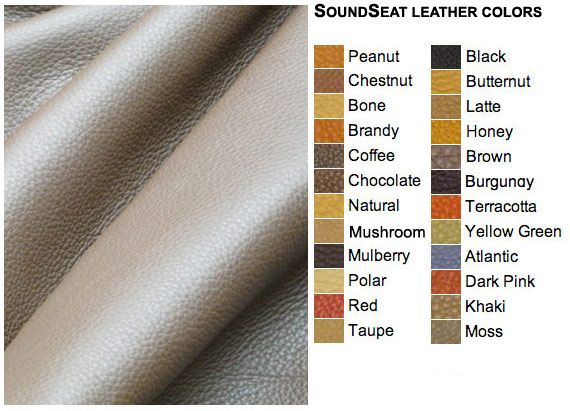 SoundSeat leather color selections